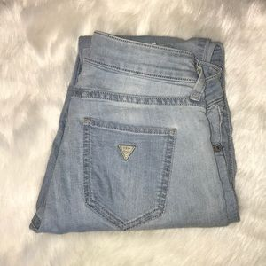 GUESS Light Wash Power Skinny Jeans